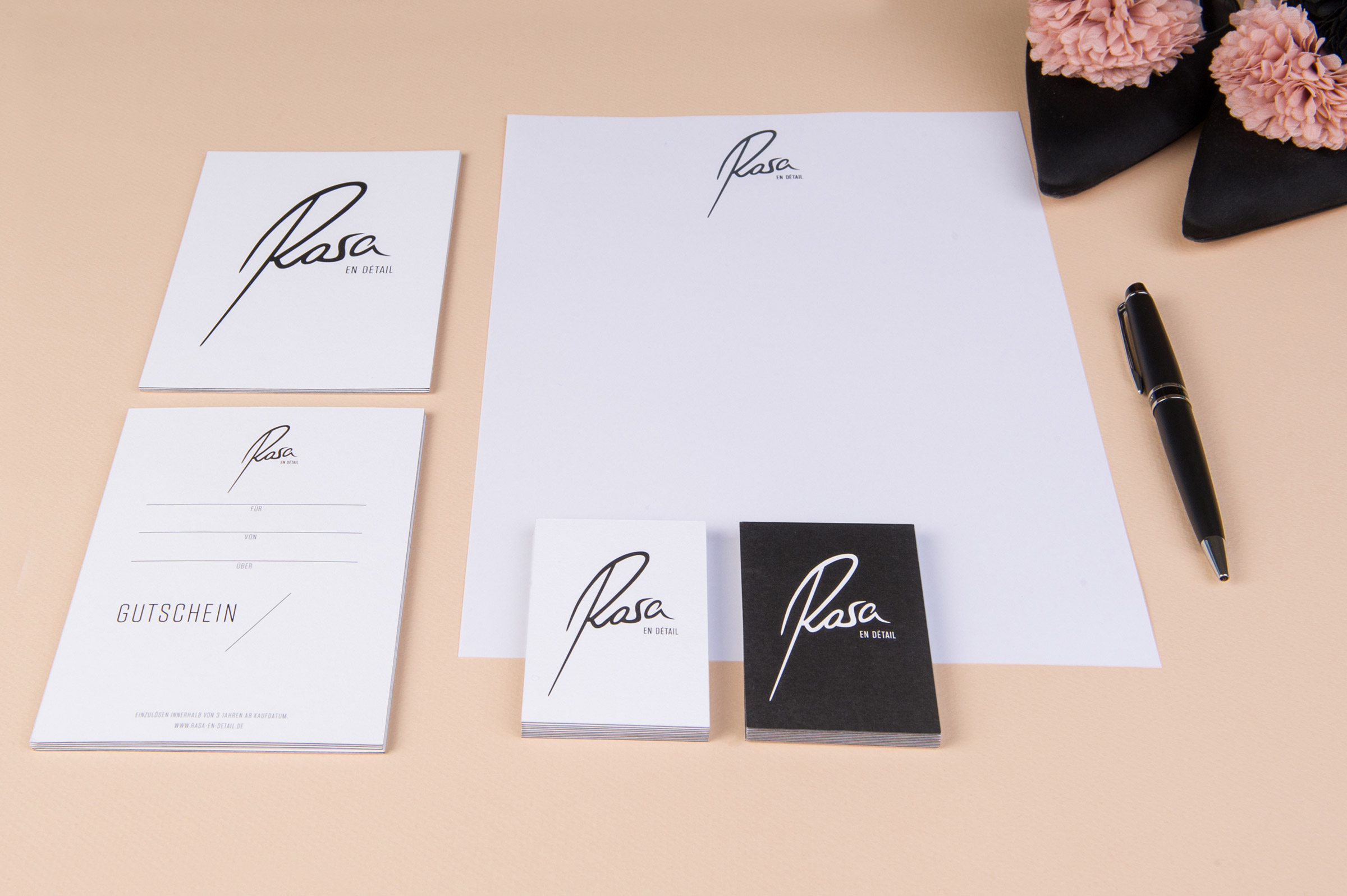 Rasa, Corporate Design, Geschäftsausstattung, Manolo Blahnik