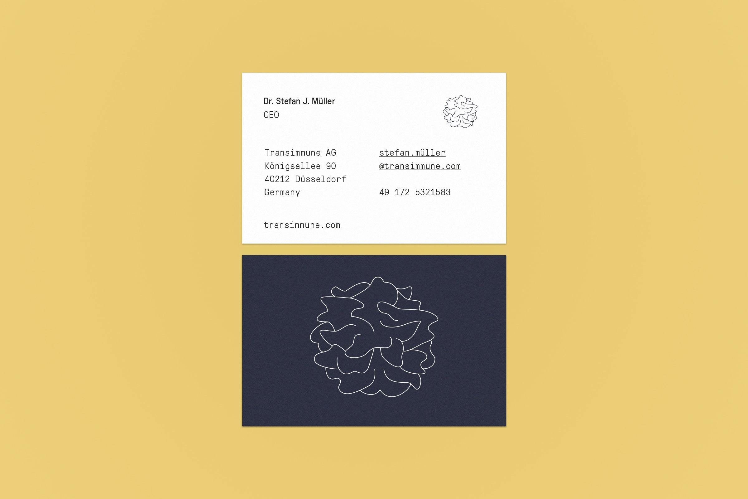 Visitenkarte, Transimmune