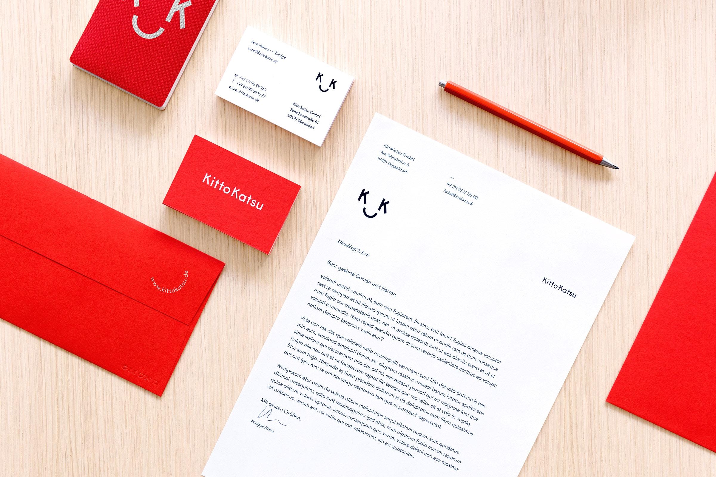 KittoKatsu, Logo, Geschäftsausstattung, Corporate Design