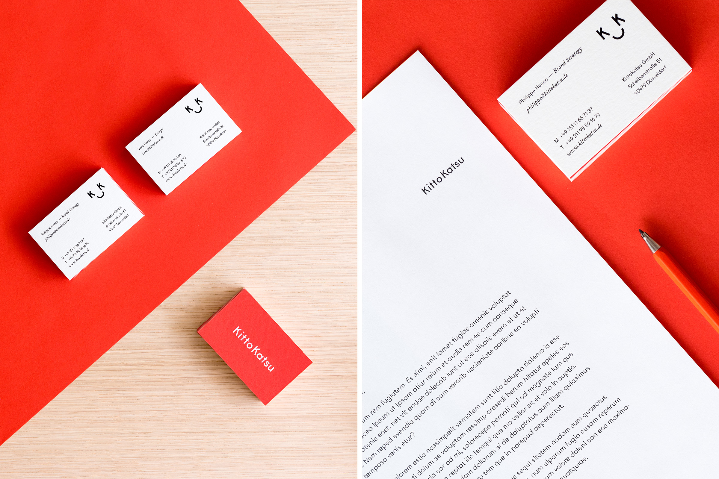 KittoKatsu, Agentur Corporate Design, Agentur Markenführung, Visitenkarte