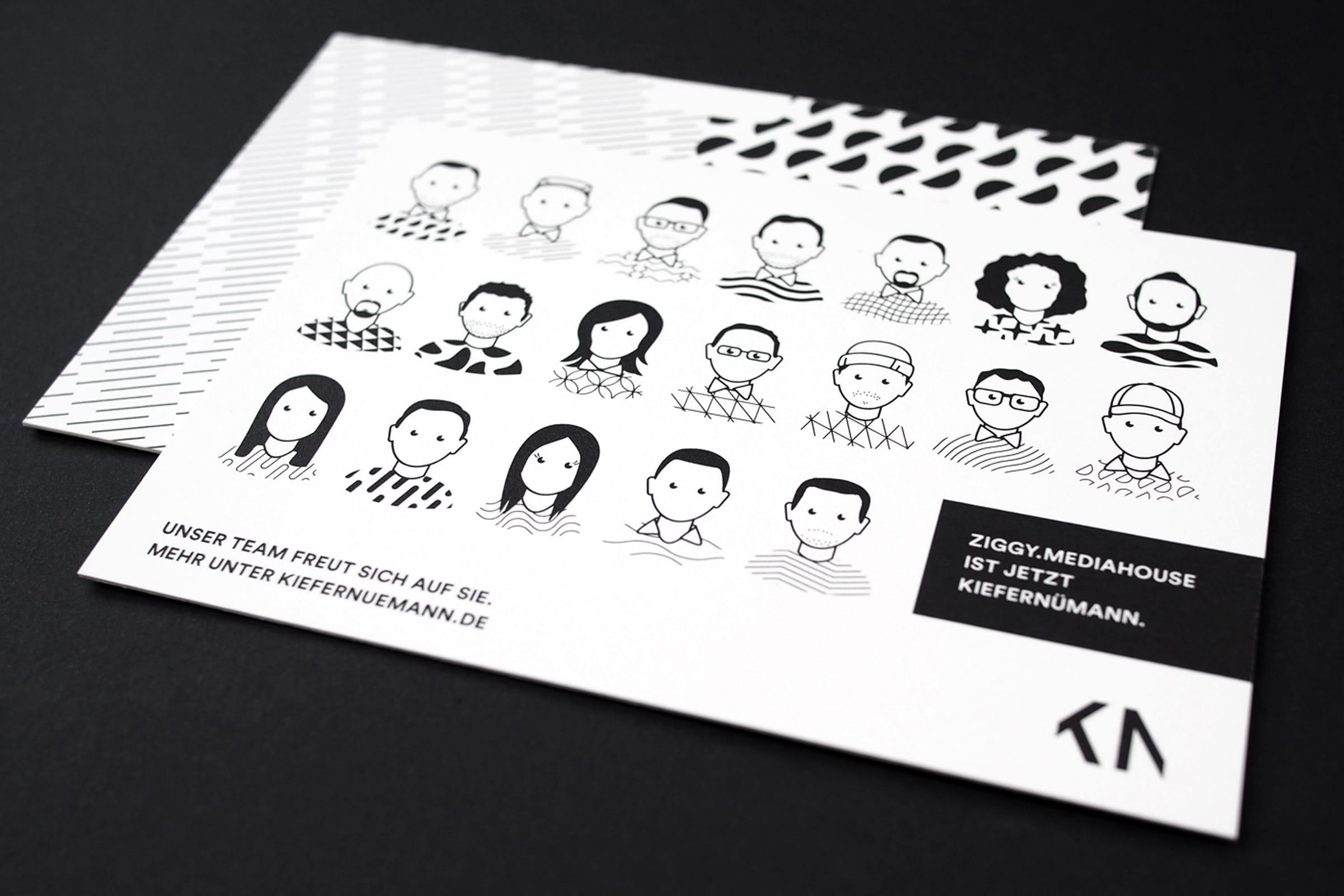 KieferNümann, Mailing, Illustration, Design