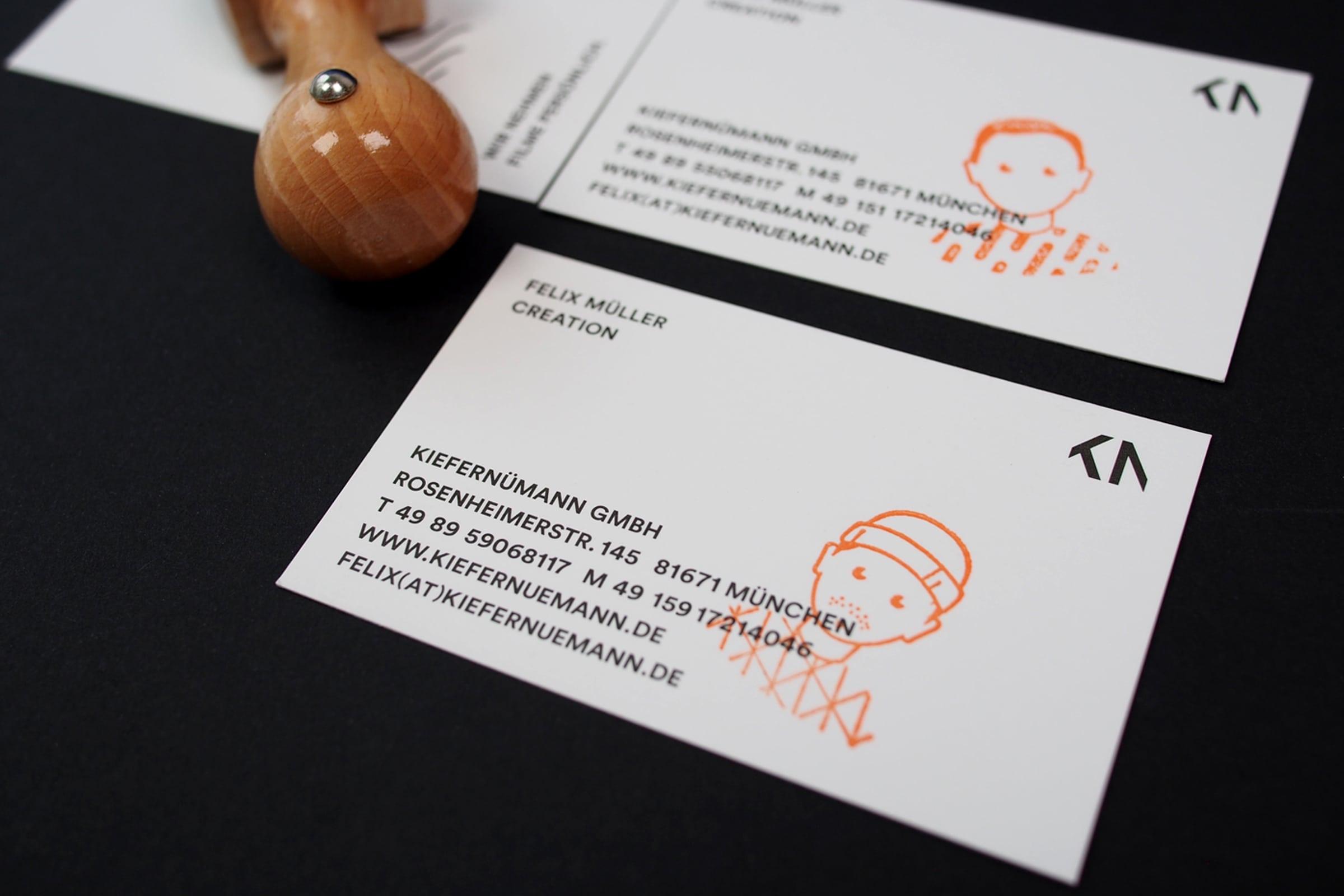 KieferNümann, Visitenkarte, Illustration, Design