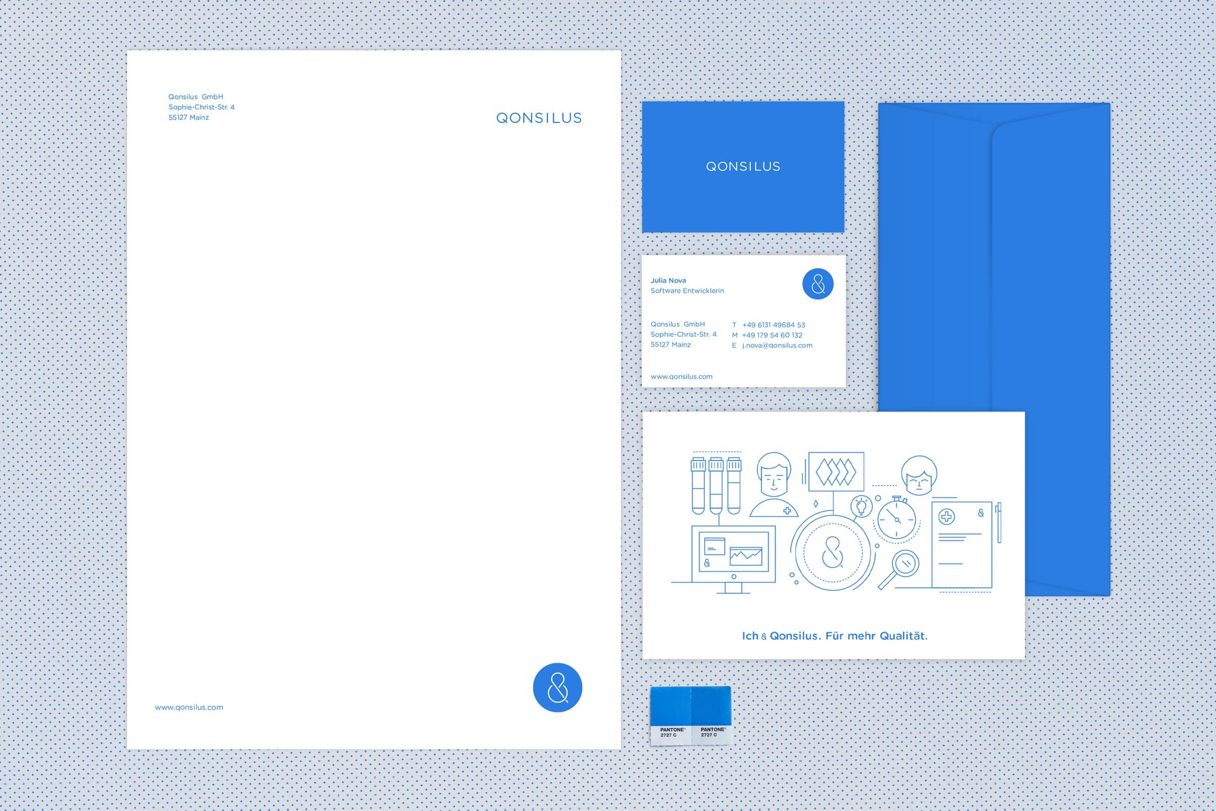 Qonsilus, Corporate Design, Geschäftsausstattung