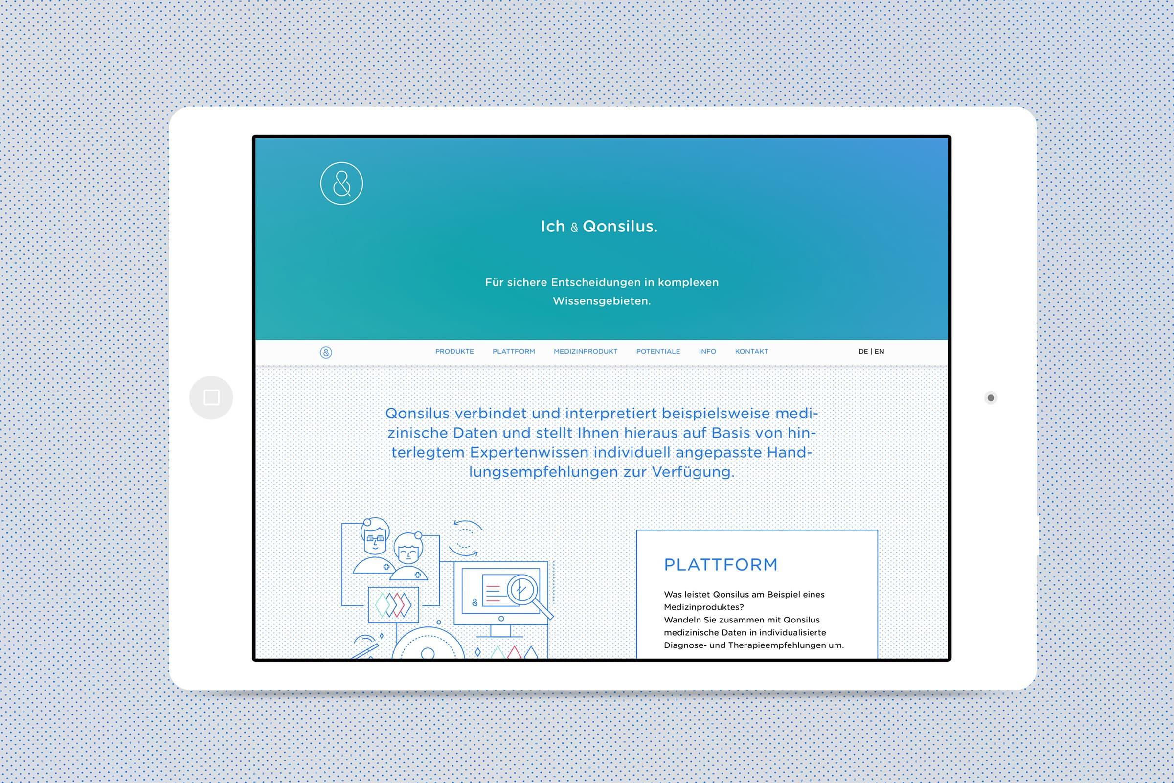Qonsilus, Website, Webdesign