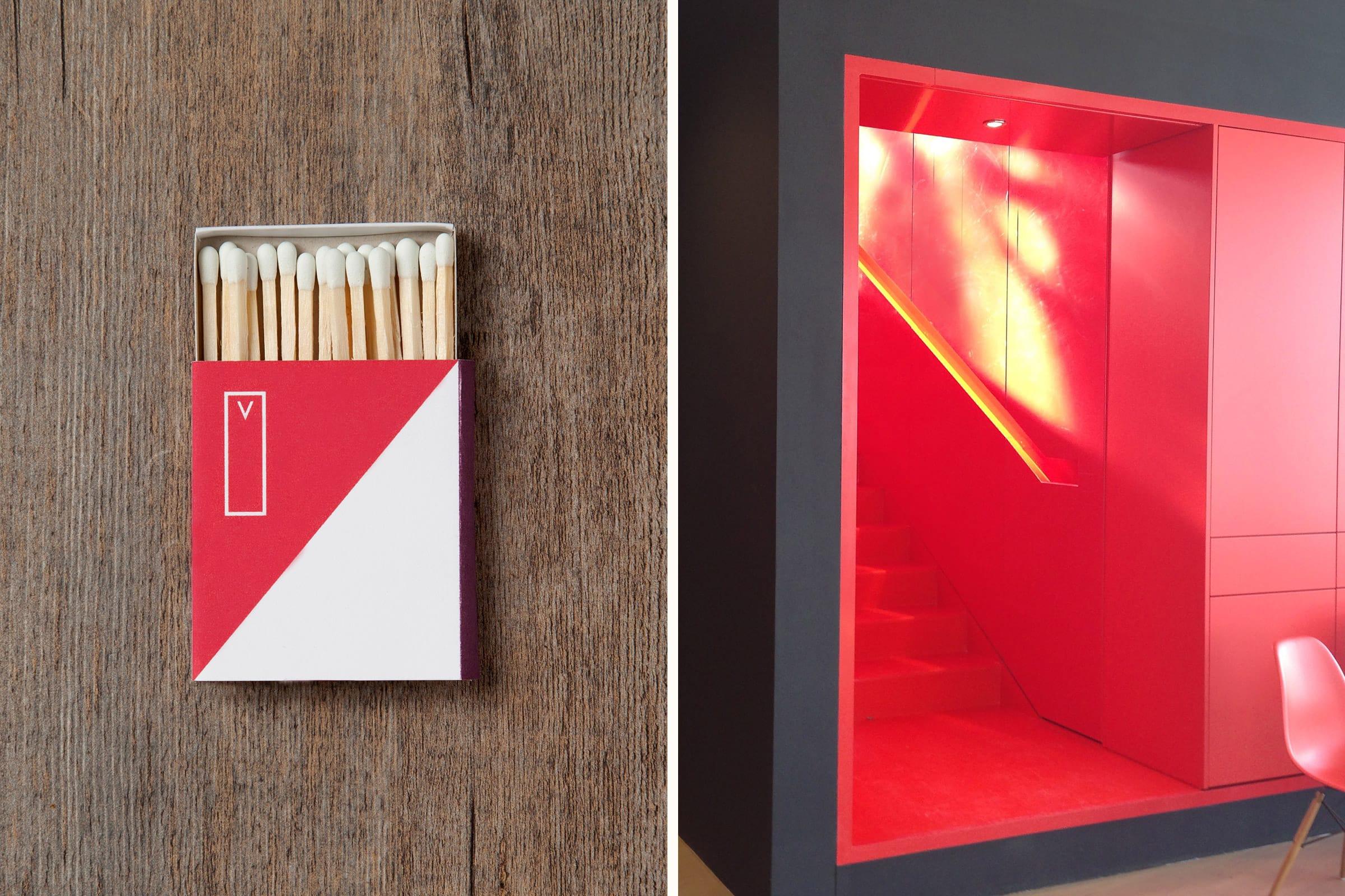 Streichhölzer, Branding, rot, Vodafone
