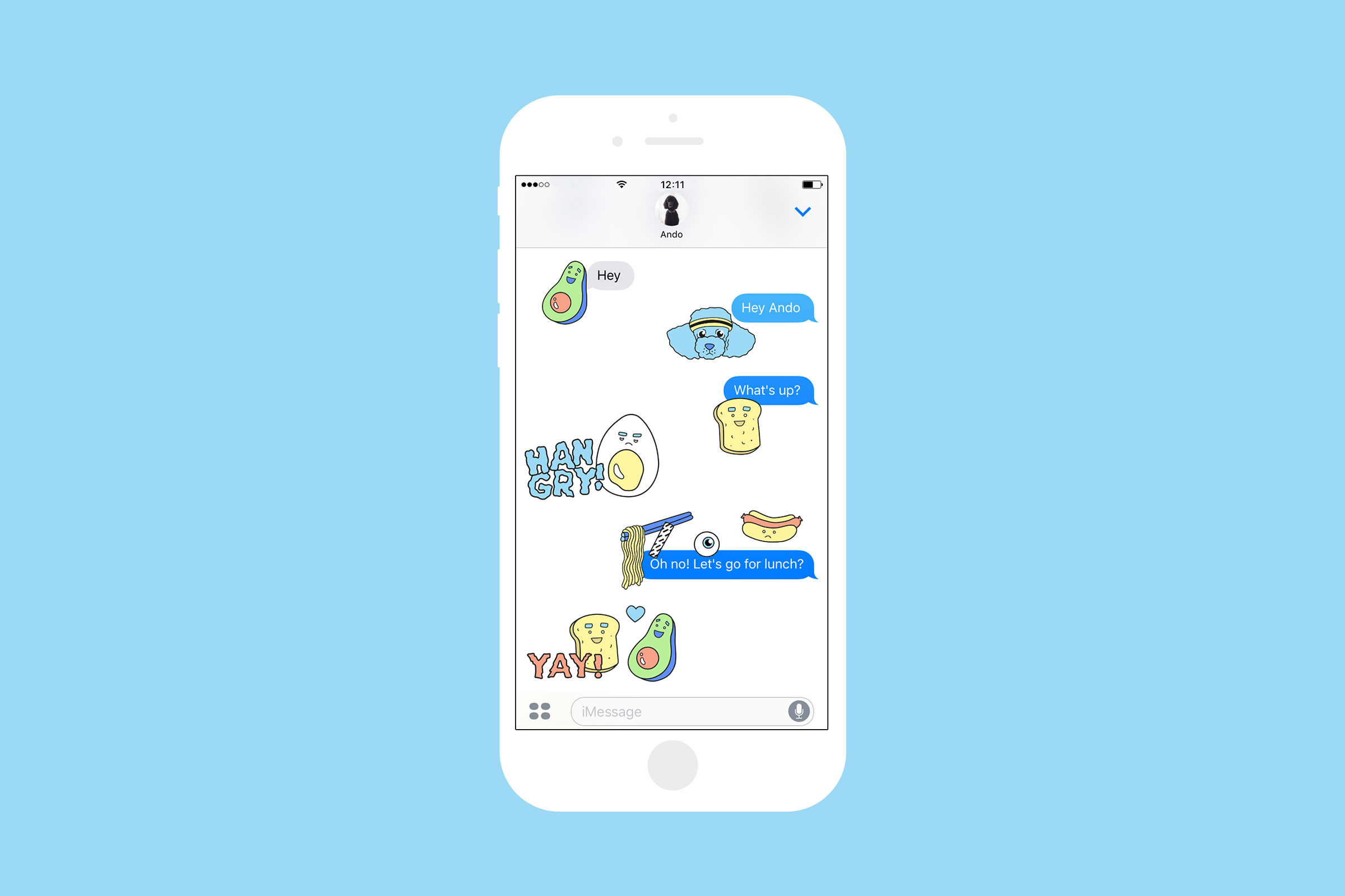 iMessage, Sticker, Chat, SUUPAA