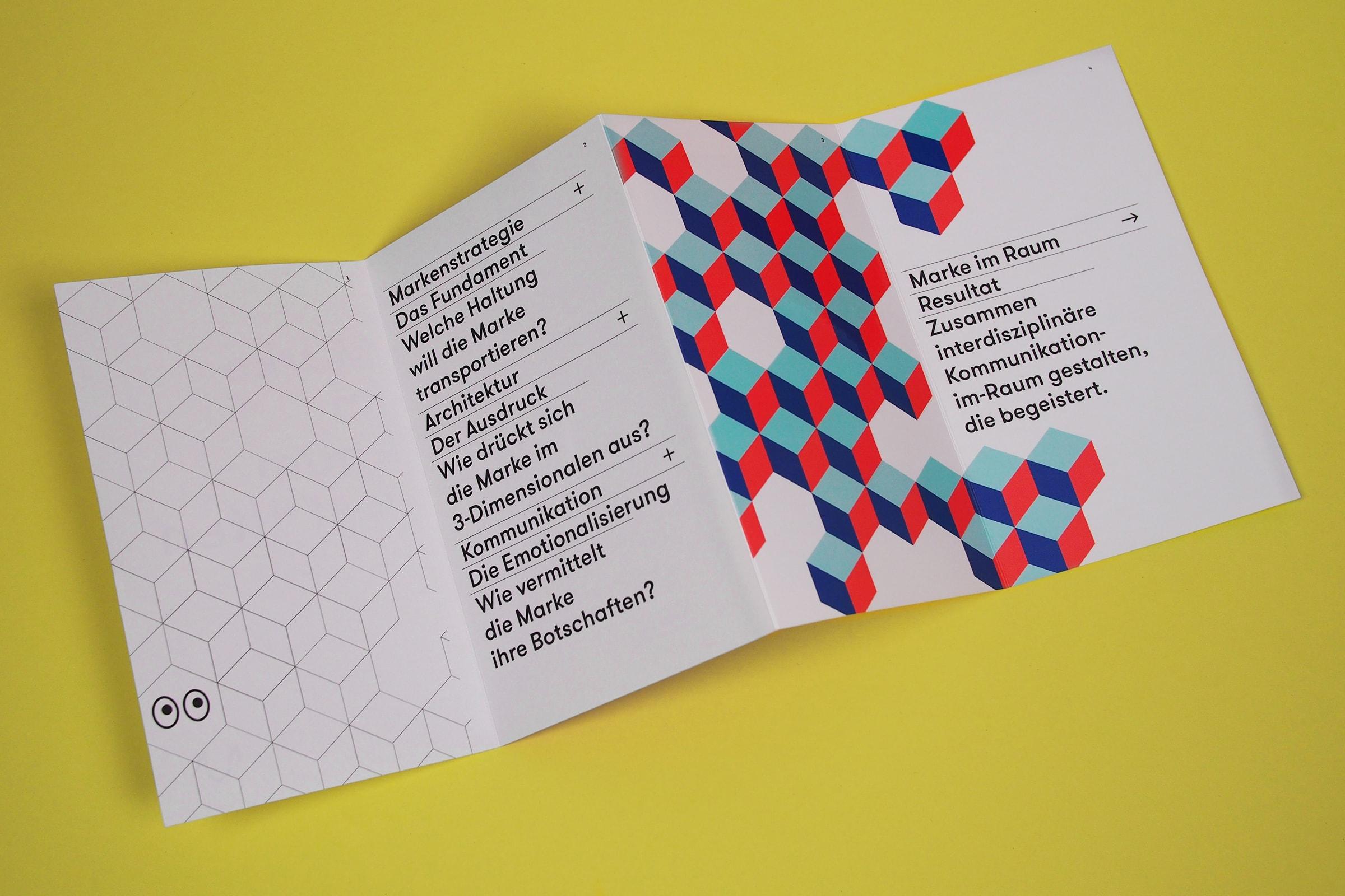 Marke im Raum, Kommunikation im Raum, Architektur, Aussendung, Mailing, Editorial Design