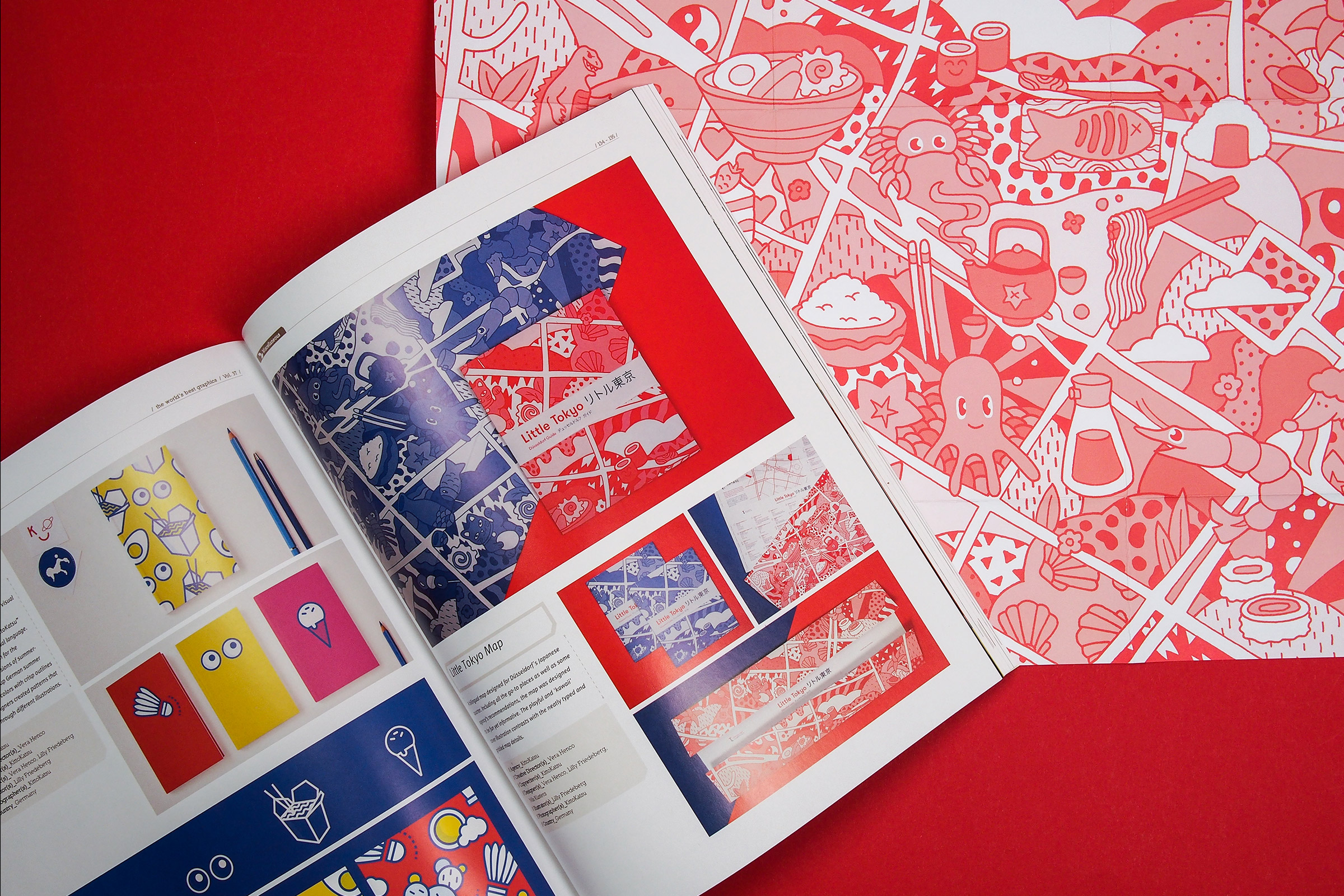 Little Tokyo Guide, Düsseldorf, Illustration, Press, Illustrationsdesign