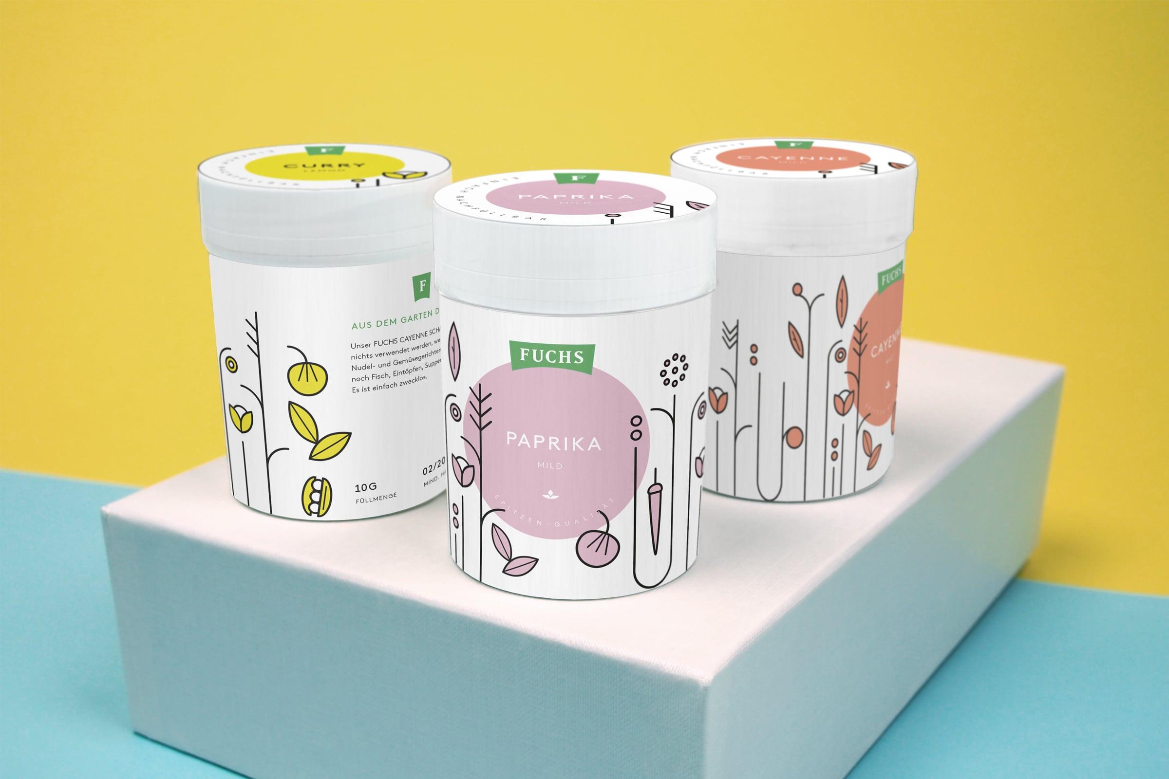 Gewürze, Packaging, Redesign, Illustration
