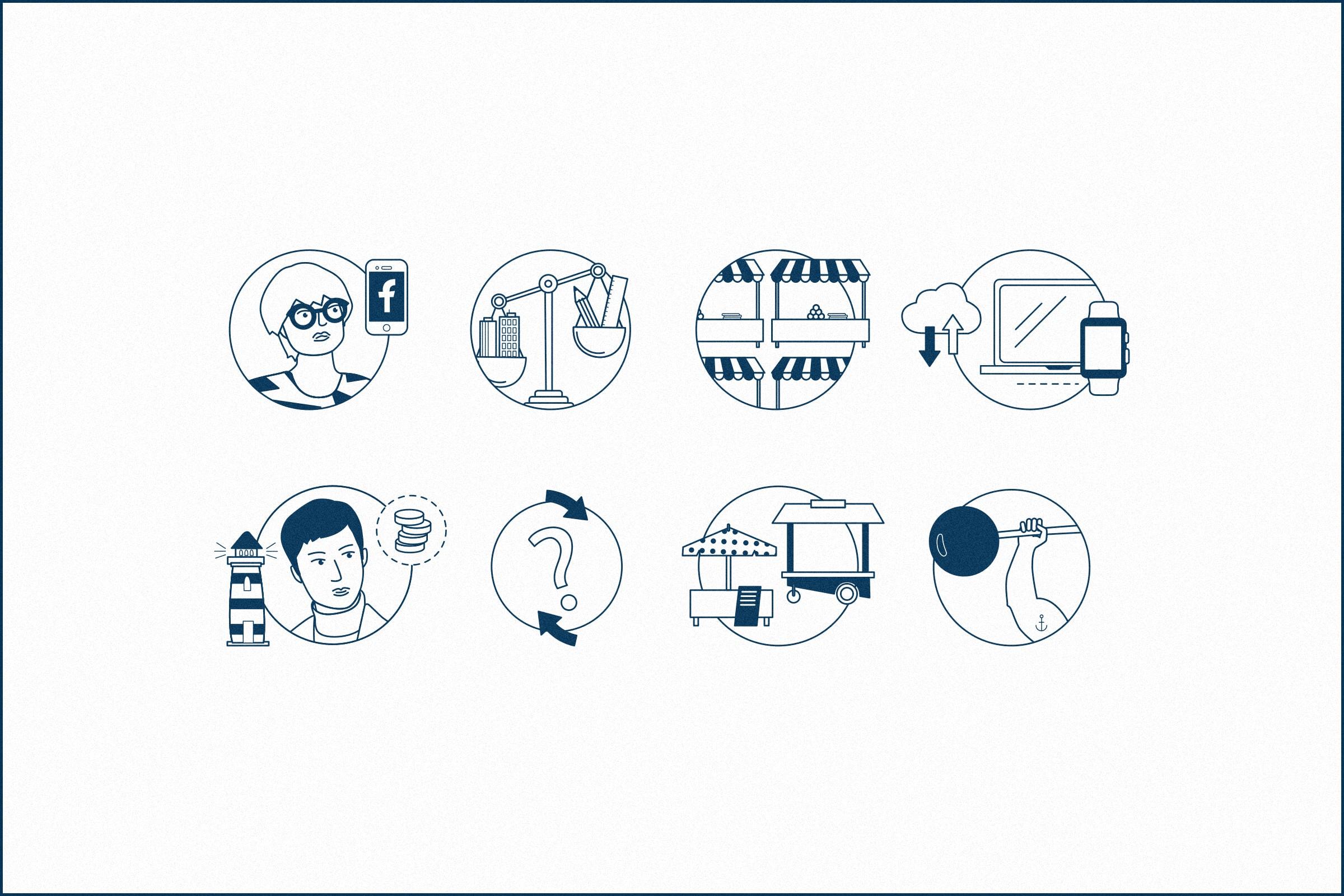 Illustration, Icons, Infografik