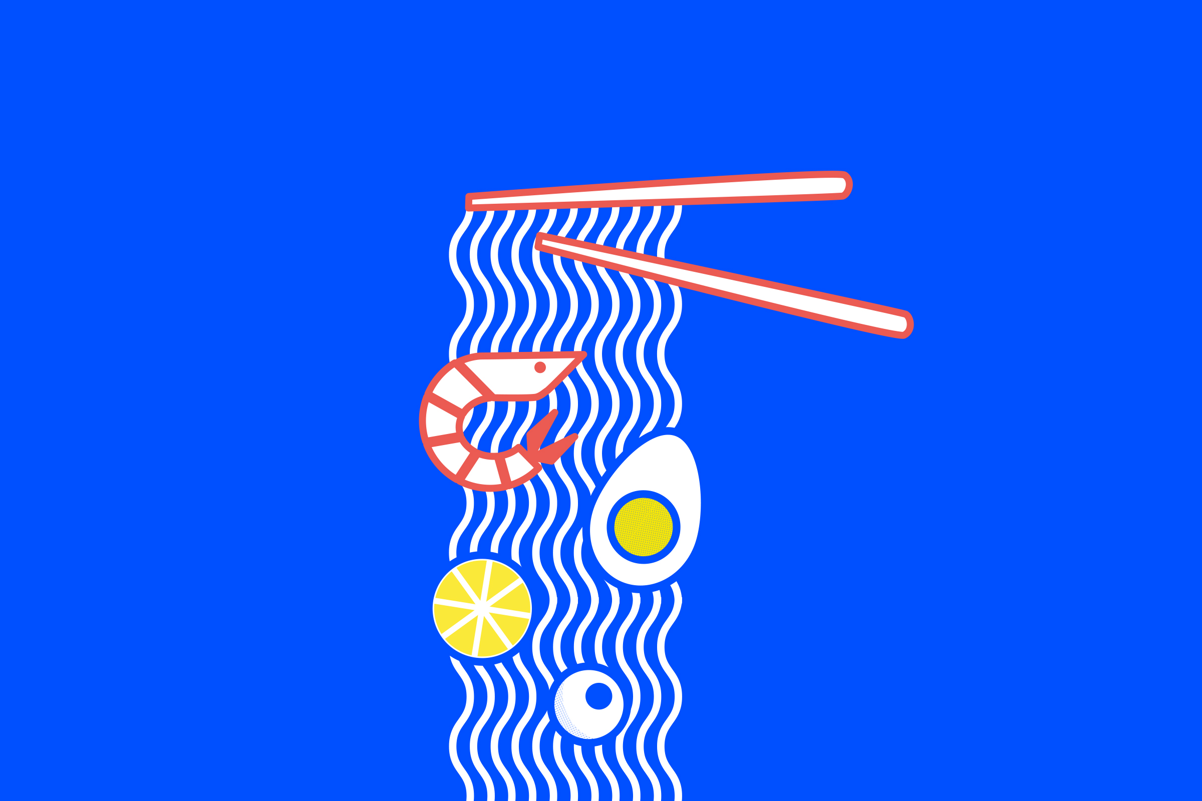 Illustration, Vektoren, Ramen, Japan, Farbe