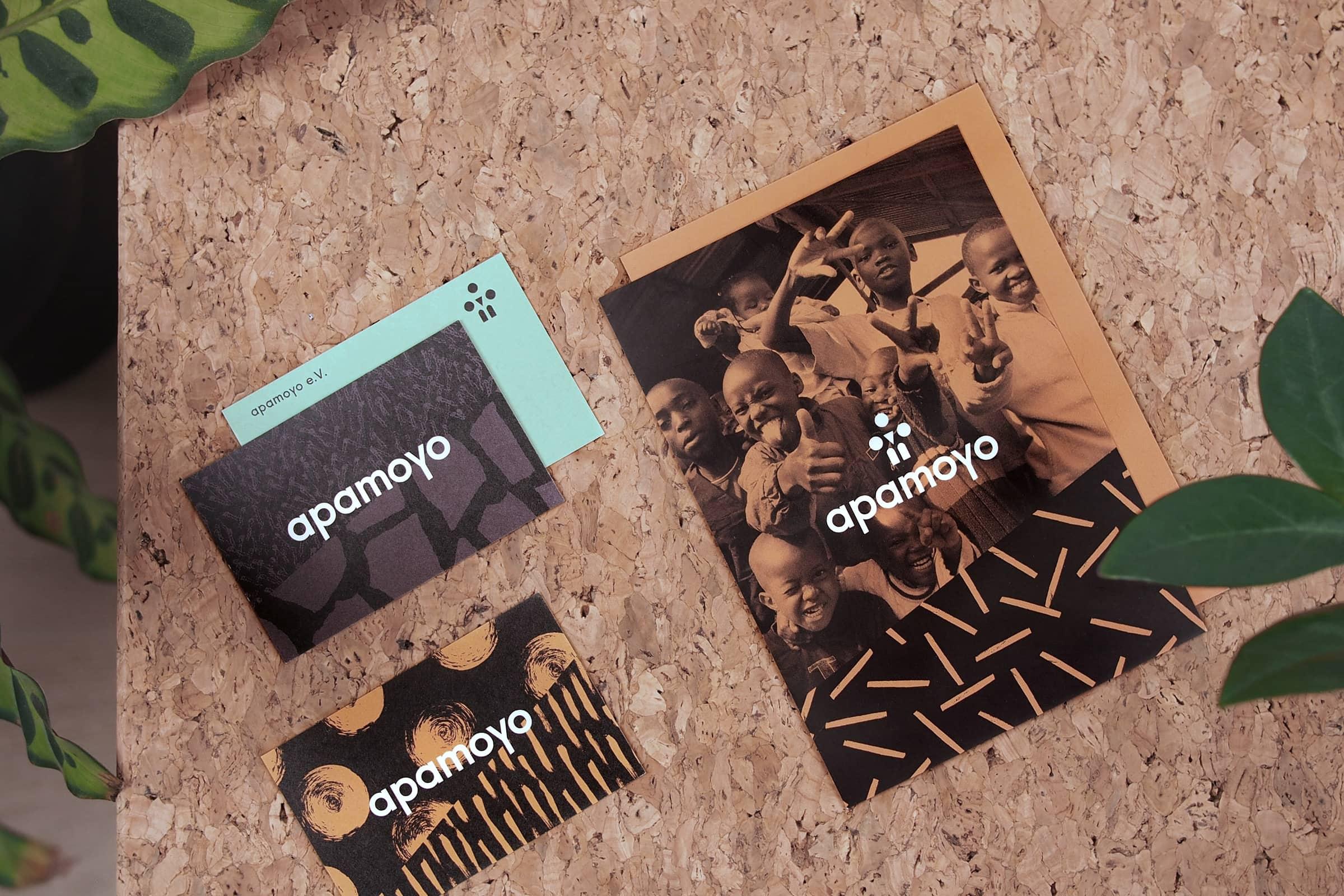Visitenkarten, Flyer, Design, Muster, Hilfsorganisation