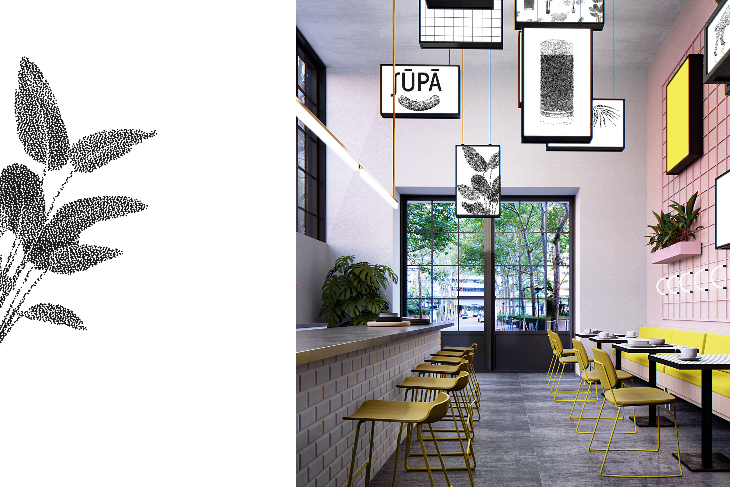 interior design, Einrichtung, bar, cafe, restaurant, logo