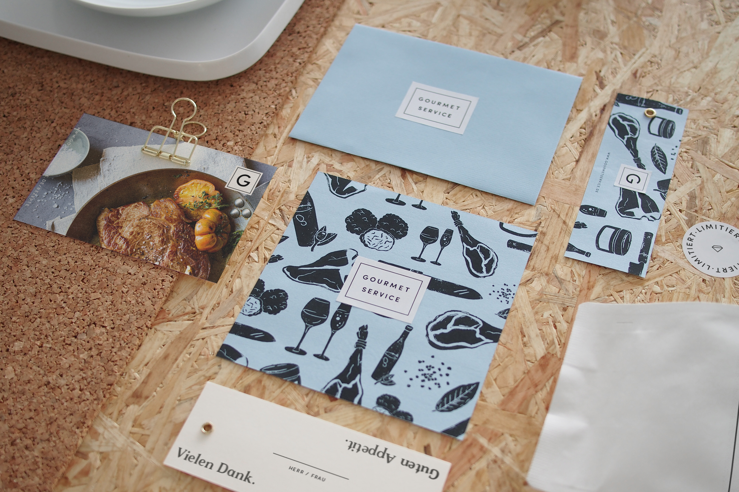 Corporate Identity, Corporate Design, Supermarkt, Lebensmittel, Gourmet, Click and collect