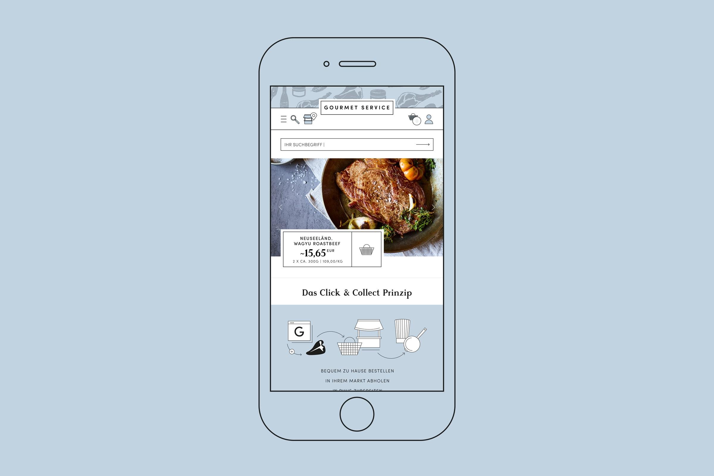Webdesign, Mobil, Responsive Design, iPhone, Corporate Design, Essen, Food, Lebensmittel, Gourmet