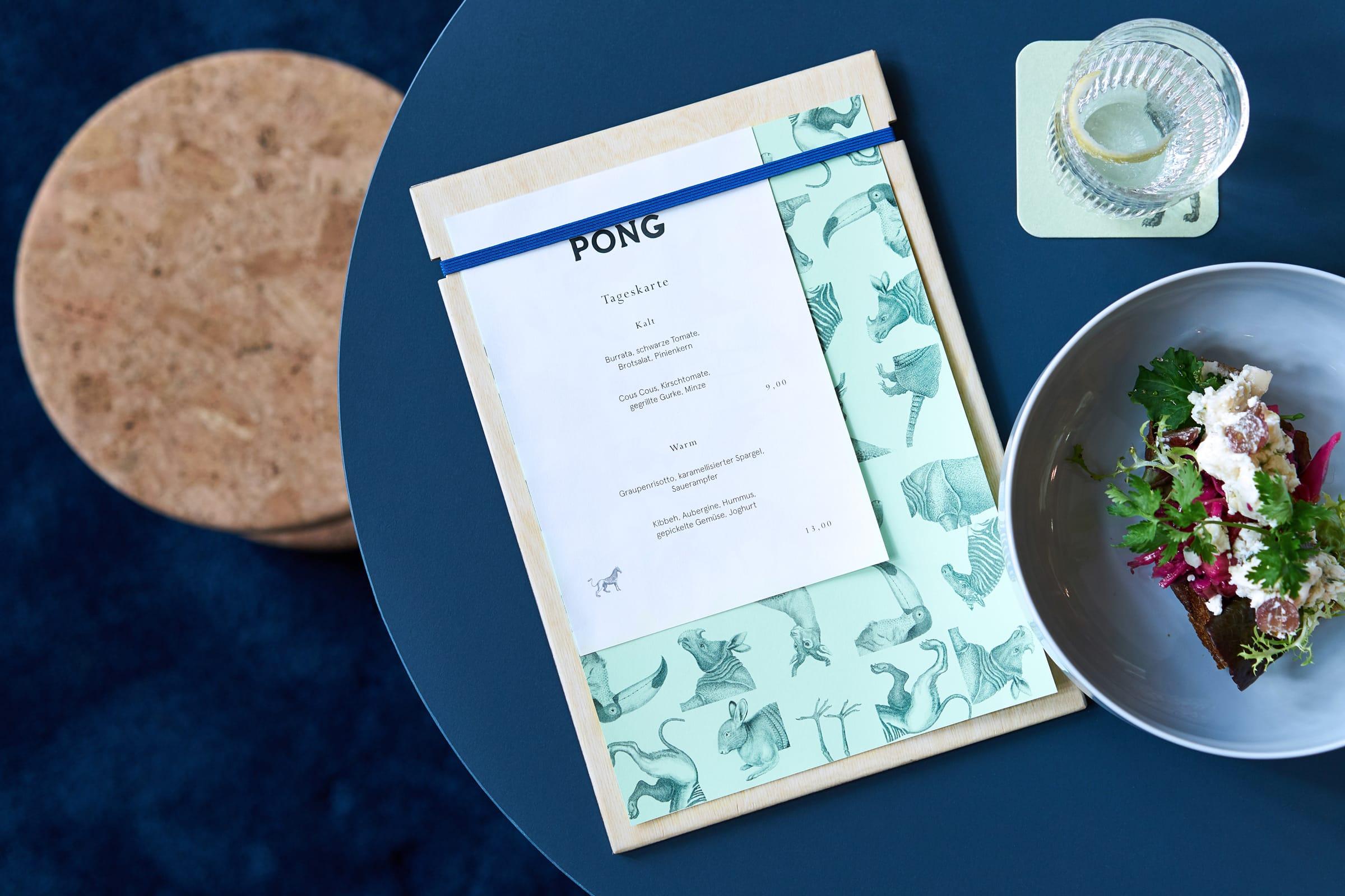 NRW Forum, Restaurant, Café, Logo Design, Identity Design, Speisekarte, PONG