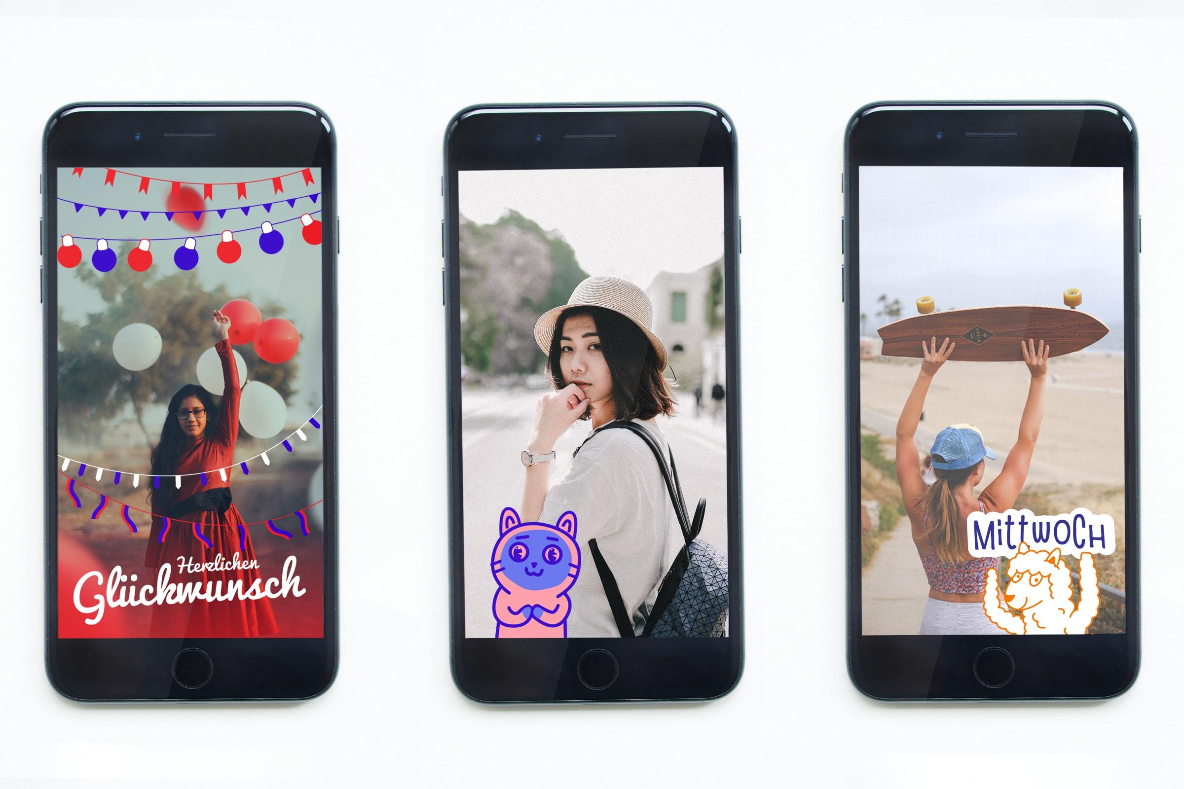Snapchat, Geofilter, Katze, Illustration, Character Design