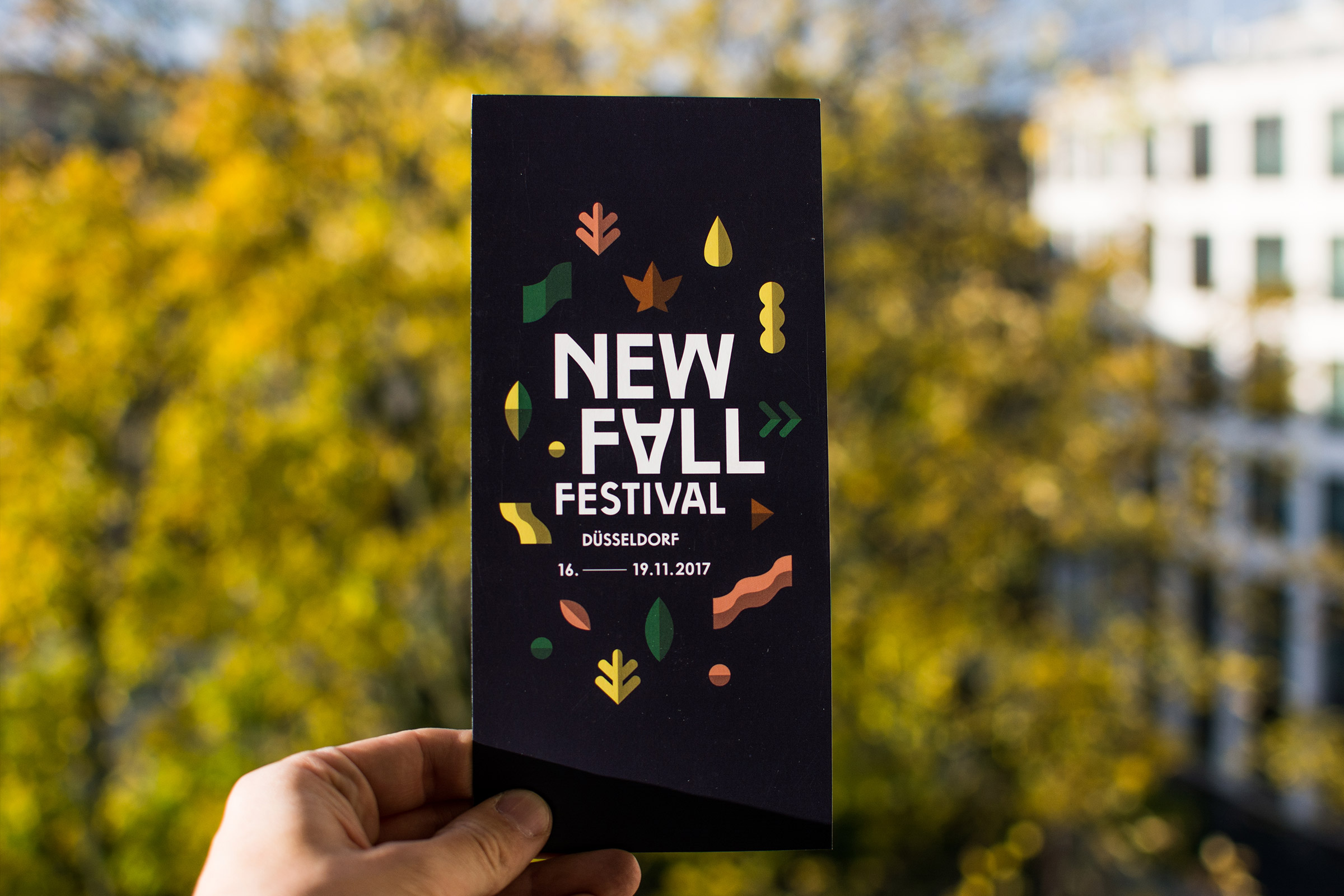 New Fall Festival, Flyer, Identity Design, Muster, Branding