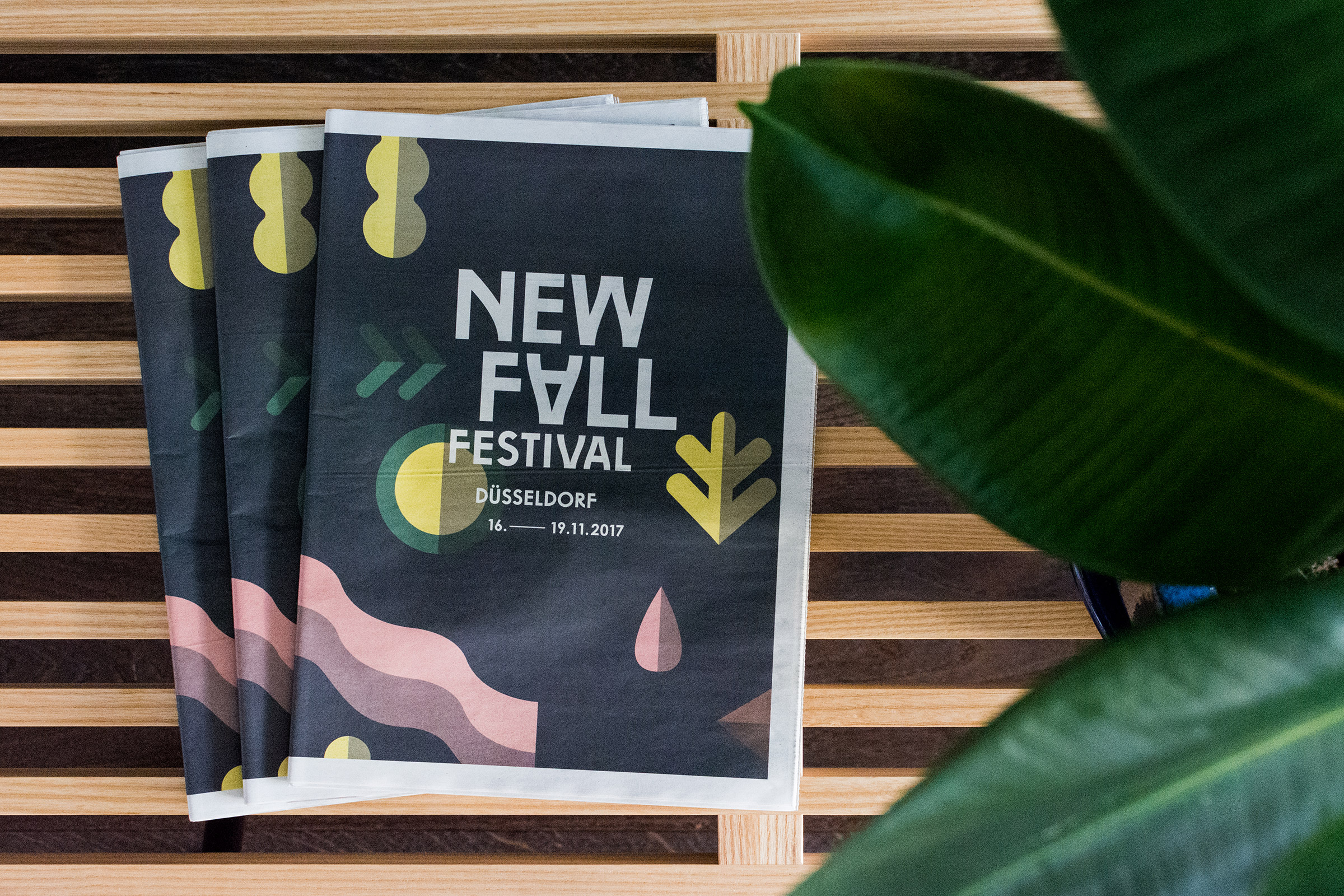 New Fall Festival, Düsseldorf, Magazin, Editorial Design, Zeitung, Layout, Branding