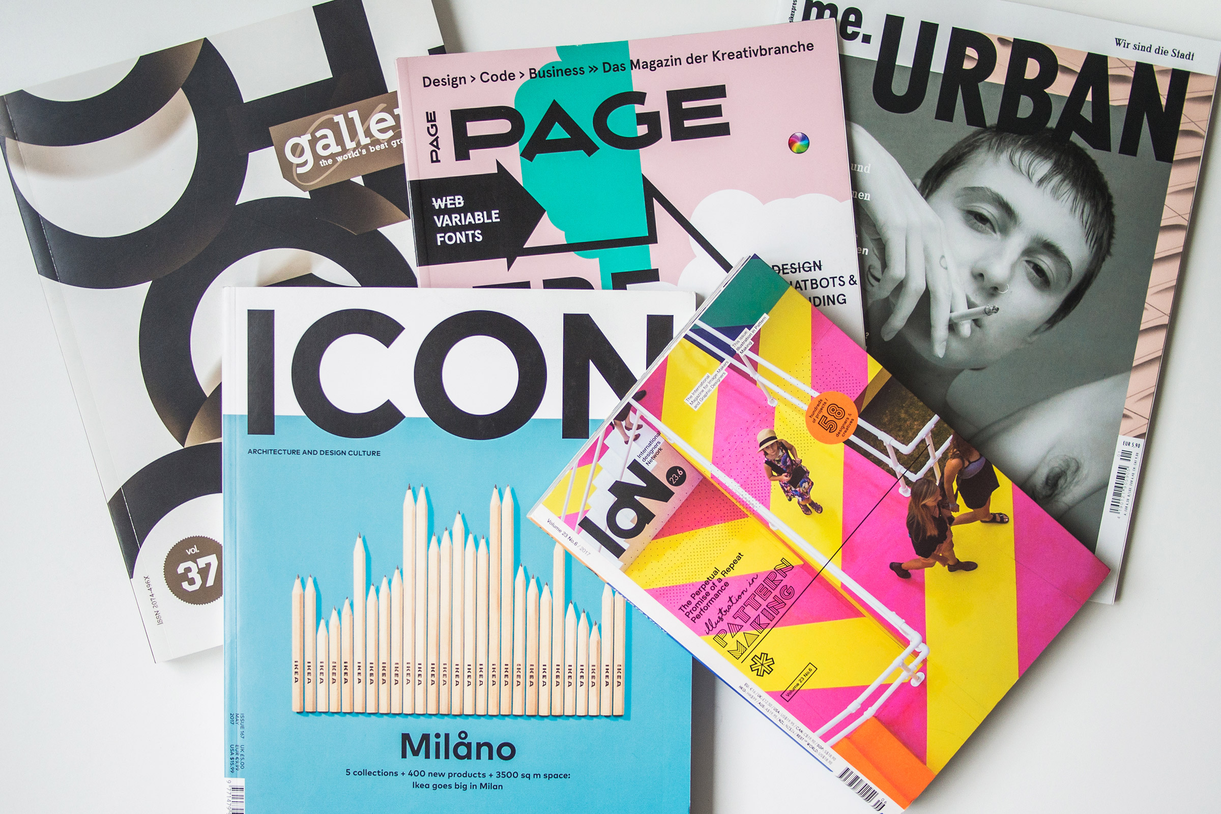 Presse, Publikationen, Magazine, me.urban, Page, Icon, Chois Gallery, IdN