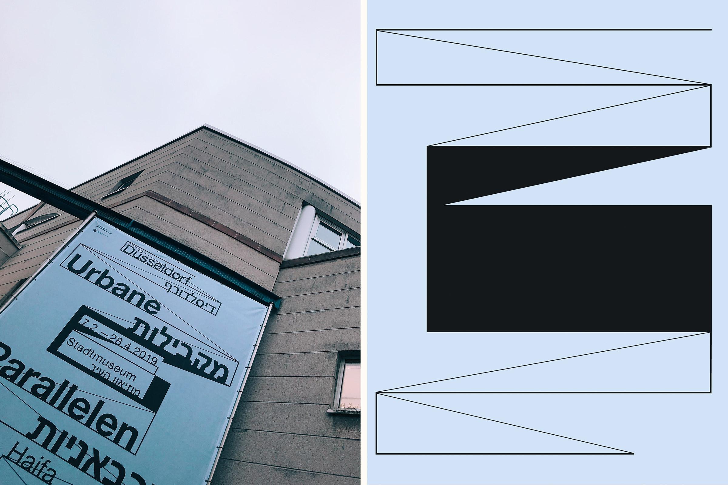 Düsseldorf, Stadtmuseum, Ausstellungsdesign, Banner, Line Art
