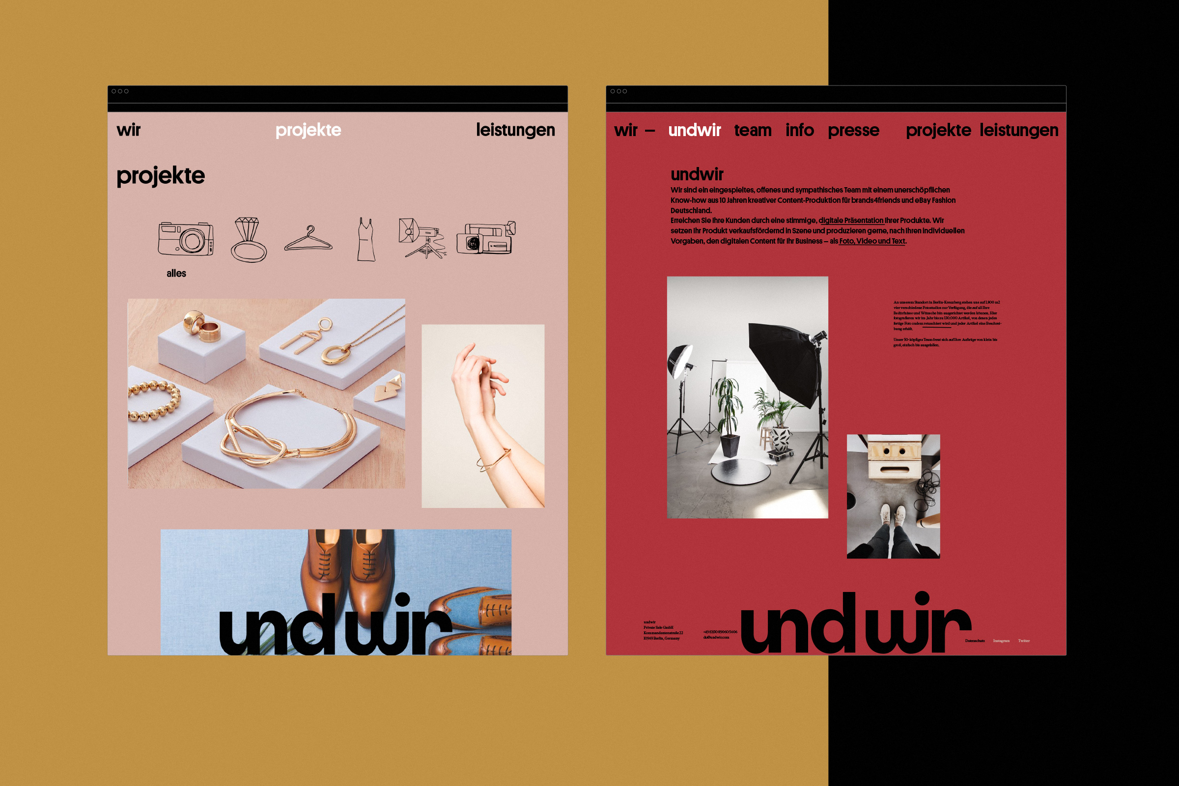 undwir, illustration, produktfotos, text